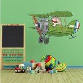 Autocollant Stickers enfant avion hélice