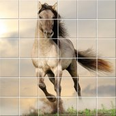 Stickers carrelage cheval