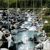 Stickers carrelage rivière