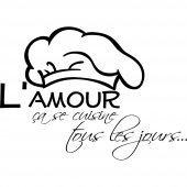 Stickers citation Amour