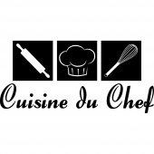 Stickers citation Cuisine du chef