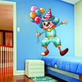 Autocollant Stickers enfant clown