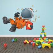 Autocollant Stickers enfant cosmonaute en apesanteur