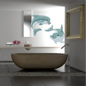 Autocollant Stickers dauphins