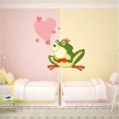 Autocollant Stickers enfant grenouille amoureuse