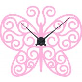 Stickers Horloge papillon