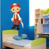 Autocollant Stickers enfant jeune pirate