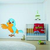 Autocollant Stickers enfant oiseau bleue