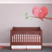 Autocollant Stickers enfant oiseaux coeur