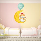 Autocollant Stickers enfant ourson good night
