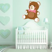 Autocollant Stickers enfant ourson noeud papillon