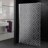 Stickers paroi de douche dépoli Florentia