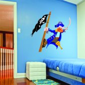 Autocollant Stickers enfant pirate et drapeau