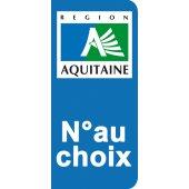 Stickers Plaque Aquitaine