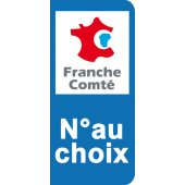 Stickers Plaque Franche Comté