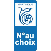 Stickers Plaque Martinique