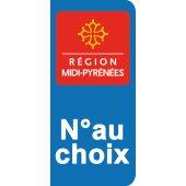 Stickers Plaque Midi Pyrénées