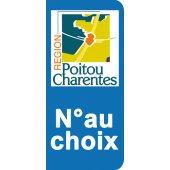 Stickers Plaque Poitou Charentes