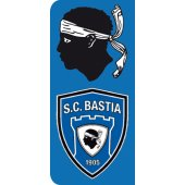Stickers Plaque SC Bastia