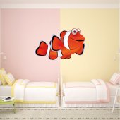 Autocollant Stickers poisson clown