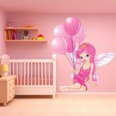 Autocollant Stickers enfant princesse ballon