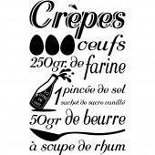 Stickers Recette Crêpes