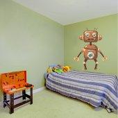 Autocollant Stickers enfant robot cuivre