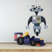 Autocollant Stickers enfant robot radio