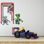 Autocollant Stickers enfant robot sportif