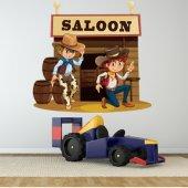Autocollant Stickers enfant saloon
