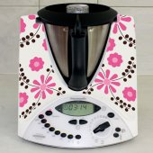Stickers Thermomix TM 31 Flowers Pink