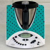 Stickers Thermomix TM31 Turquoise a pois