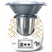 Stickers Thermomix TM5 A pois multucolore 3