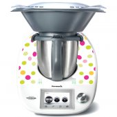 Stickers Thermomix TM5 A pois multucolore 5