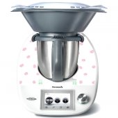 Stickers Thermomix TM5 Blanc à pois rose