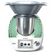 Stickers Thermomix TM5 Damier turquoise