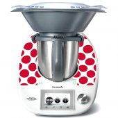 Stickers Thermomix TM5 Pois rouge 4