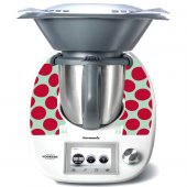 Stickers Thermomix TM5 Rond rouge
