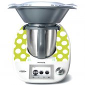 Stickers Thermomix TM5 Vert a pois