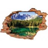 Stickers Trompe l'oeil 3D Nature