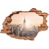 Stickers Trompe l'oeil 3D New York