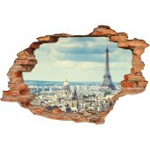 Stickers Trompe l'oeil 3D Paris