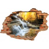 Stickers Trompe l'oeil 3D riviere