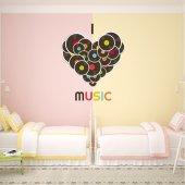 Autocollant Stickers ado vinyl coeur