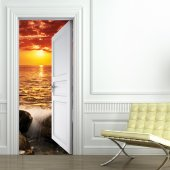 Sunset Door Stickers