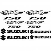 Suzuki GsxF 750 Decal Stickers kit