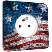 Toma de corriente decorada - bandera americana