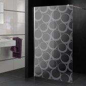 Transparentna Naklejka na Kabiny Prysznicowe - Koła Design
