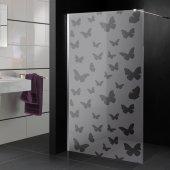 Transparentna Naklejka na Kabiny Prysznicowe - Motyle