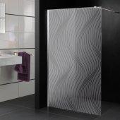 Transparentna Naklejka na Kabiny Prysznicowe - Szlaczki